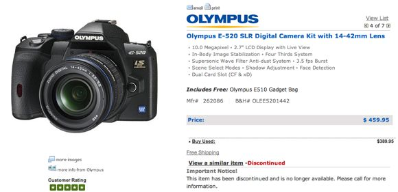 olympus-e-520-discontinued