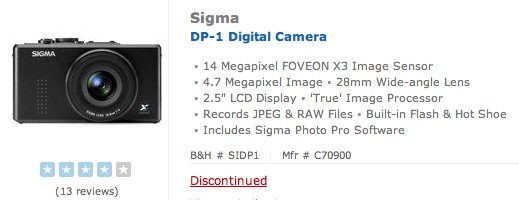 sigma-dp-1-discontinued