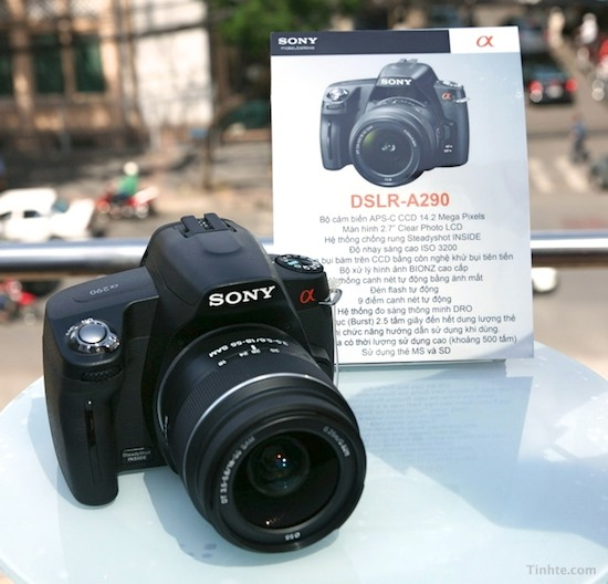 sony a290 dslr Sony a290 shows up in Vietnam
