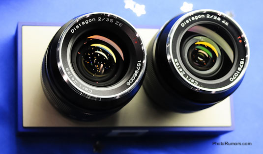 The current Zeiss Distagon 2/35 and 2/28 lenses