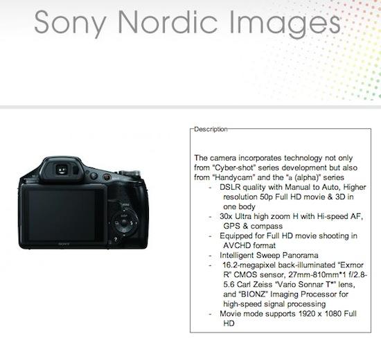 sony dsc hx100v camera leaked photo rumors Sony DSC HX10V sony cyber-shot dsc-hx9v instruction manual