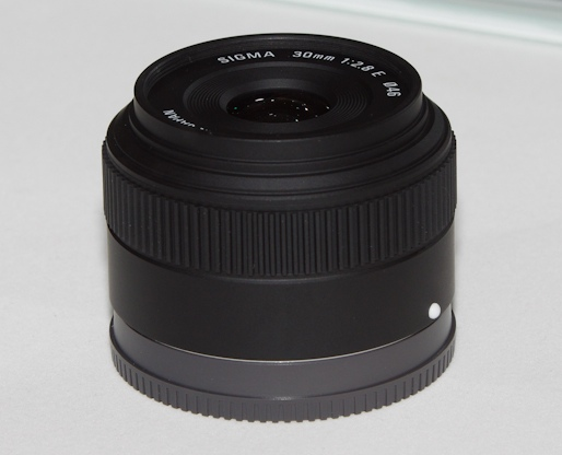 Sigma E-mount 30mm f/2.8 lens prototype