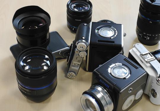 Samsung NX prototype mirrorless cameras