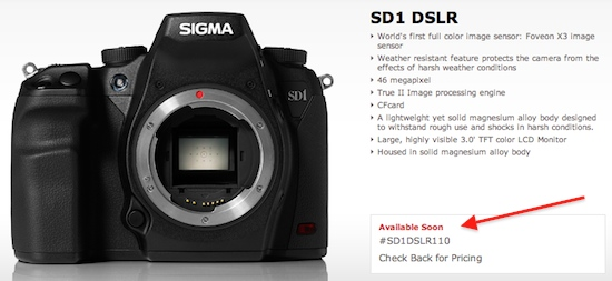 sigma sd1 dslr camera Where is the 46 MP Sigma SD1 DSLR camera?