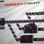 The Fuji X lineup (from the DCWatch coverage of the Fujifilm presentation in Tokyo)