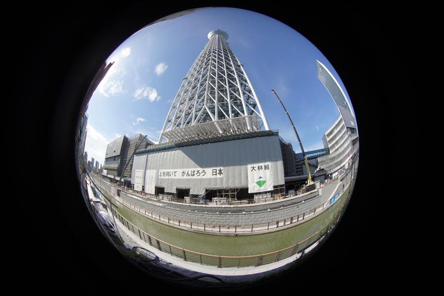 Yasuhara madoka the first 180 degree circle fisheye lens for Fish eye effect