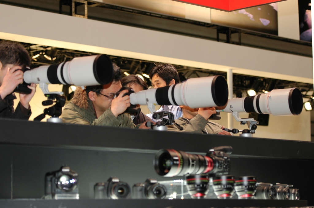 Canon Telephotos at the Canon Booth