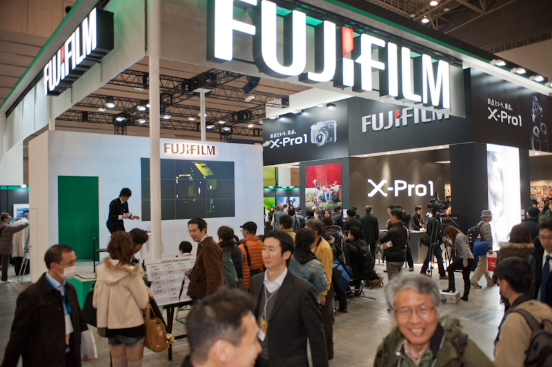 FujiFilm at the 2012 CP+ show in Yokohama Japan