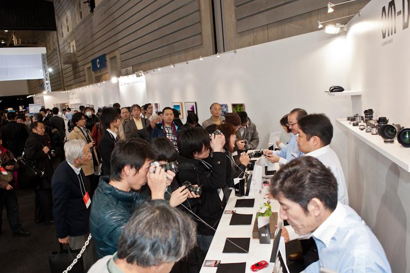 Olympus at the 2012 CP+ show in Yokohama Japan