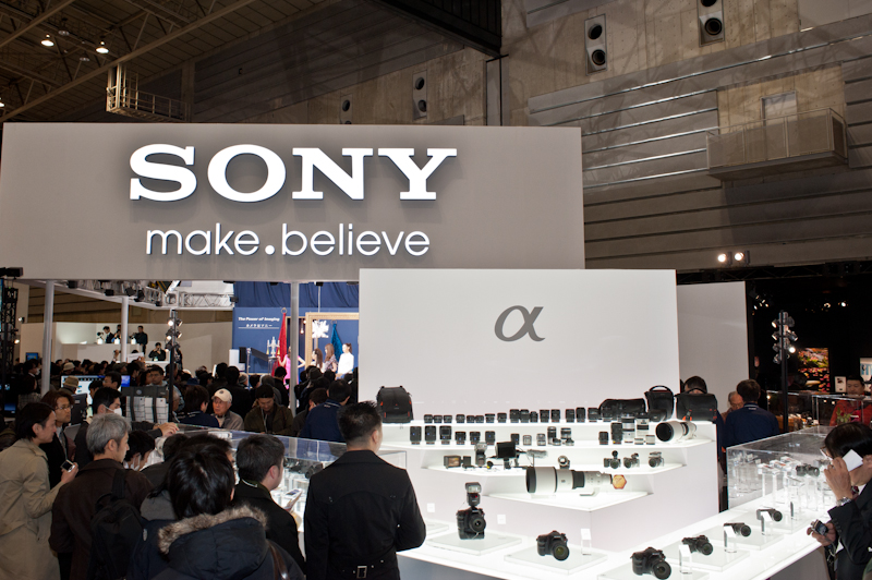 Sony at the 2012 CP+ show in Yokohama Japan
