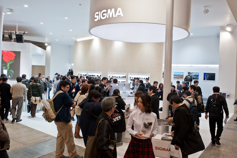 Sigma at the 2012 CP+ show in Yokohama Japan