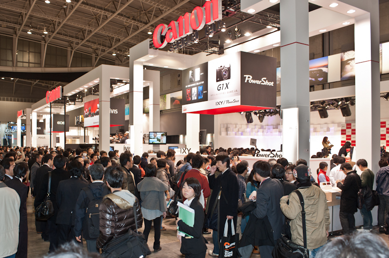 Canon at the 2012 CP+ show in Yokohama Japan