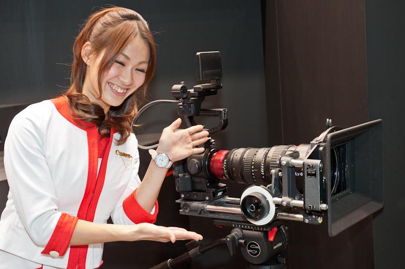 Canon at the 2012 CP+ show in Yokohama Japan