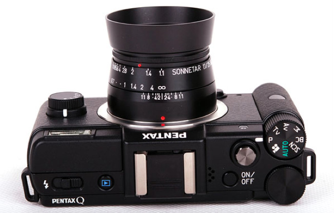 MS Optical Sonnetar 25mm f/1.1 Pentax Q lens