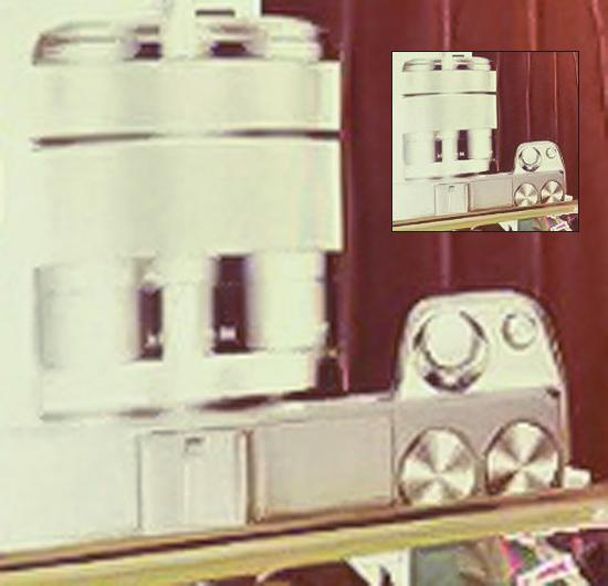 Silver Sony NEX-7 camera