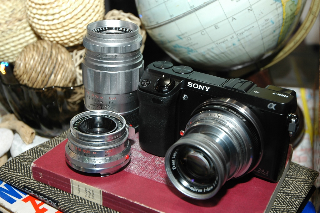 Sony NEX7 with Rayqual leica M adapter and lenses