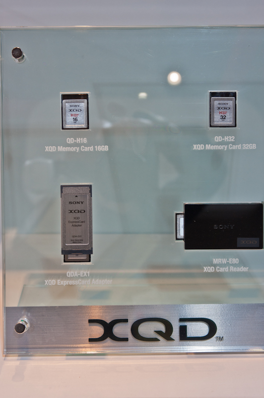 Sony XQD card at the 2012 CP+ show in Japan