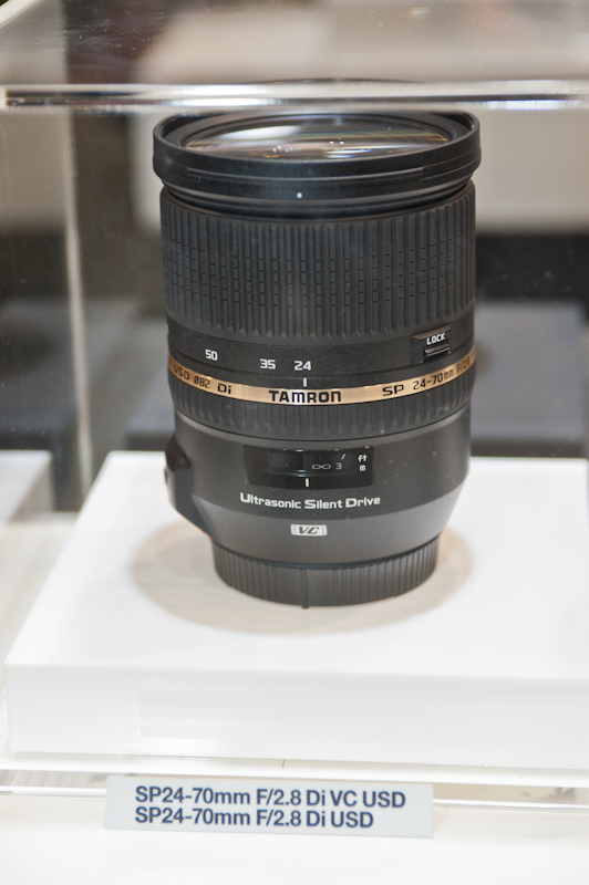 Tamron 24-70mm f/2.8 lens at the CP+ show