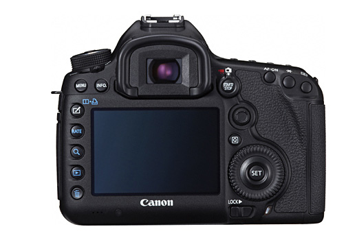 Canon 5d 3 back This is the Canon EOS 5D Mark III