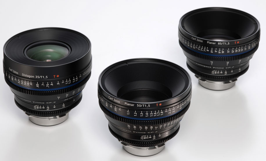 Carl Zeiss 70-200/T2.9 and 35, 50, 85/T1.5 lenses ...