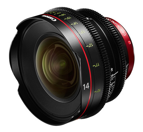 Canon 14mm T3.1 Cinema Prime Lens