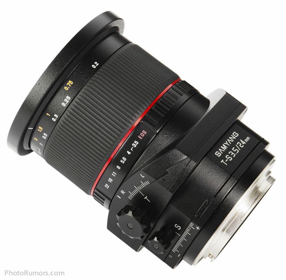 Samyang T-S 24mm 1-3.5 ED AS UMC lens