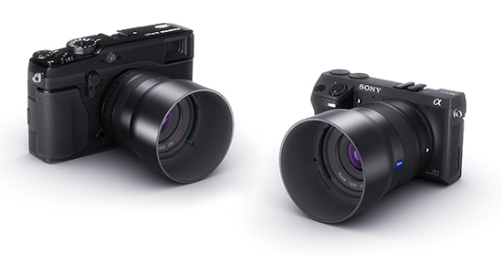 Zeiss NEX XF mirrorless system camera lenses