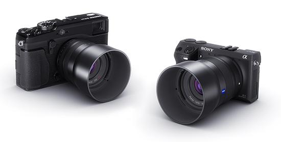 Zeiss NEX XF mirrorless system camera lenses