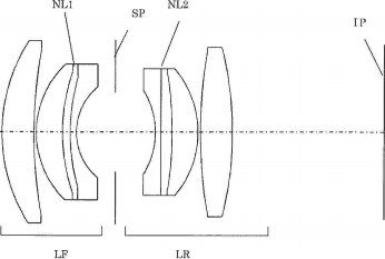 Canon 50mm f/2.0 full frame size mirrorless lens patent