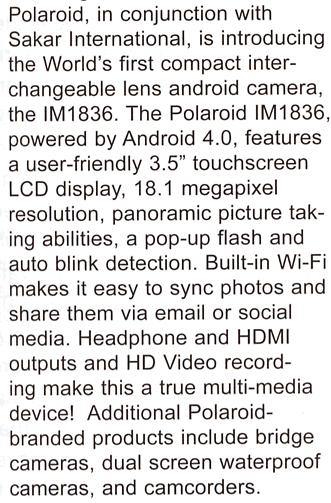 Polaroid-Android-based-mirrorless-camera