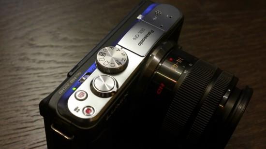 Panasonic Lumix GF6 camera top