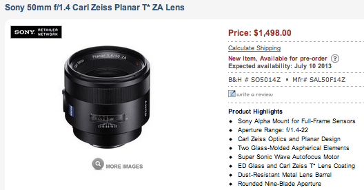 Sony-50mm-f1.4-Carl-Zeiss-Planar-T-ZA-Lens-delayed