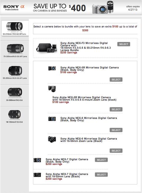 Sony-camera-lens-rebates