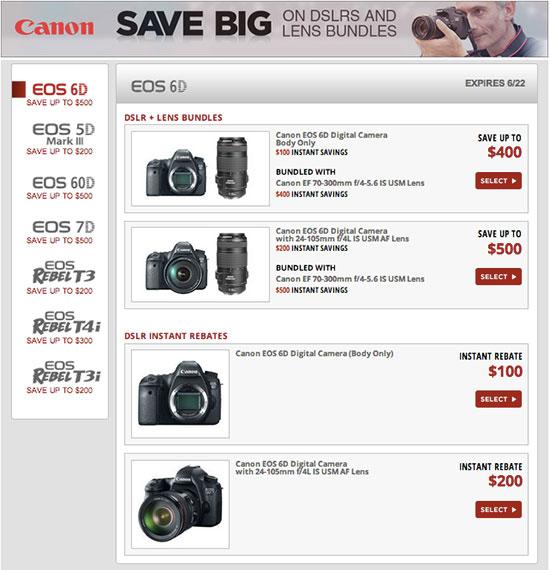 Canon-rebates