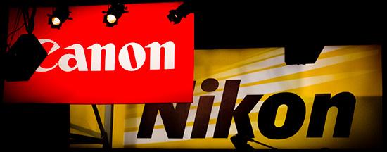 Nikon-Canon-logo