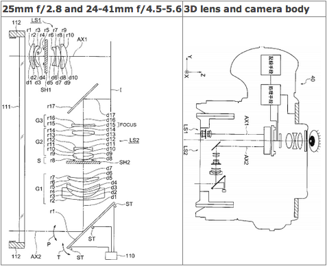 Olympus-3D-camera-and-lens-patent