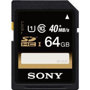 Sony 64GB SDXC class 10 UHS-1 memory card
