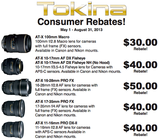 Tokina-lens-rebates