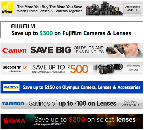 Current-instant-rebates-on-photo-equipment