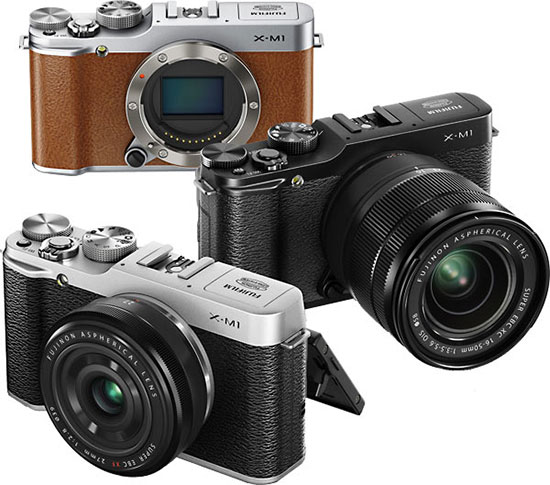 fujifilm x m1 camera fujinon xf 27mm f 2 8 r and xc 16 50mm f 3 5 5 6 ois lenses officially