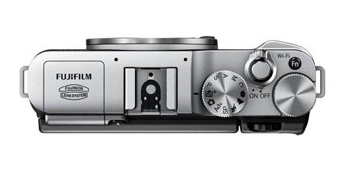 Fujifilm X-M1 camera top