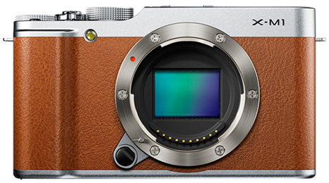Fujifilm-X-M1-mirrorles-camera-brown