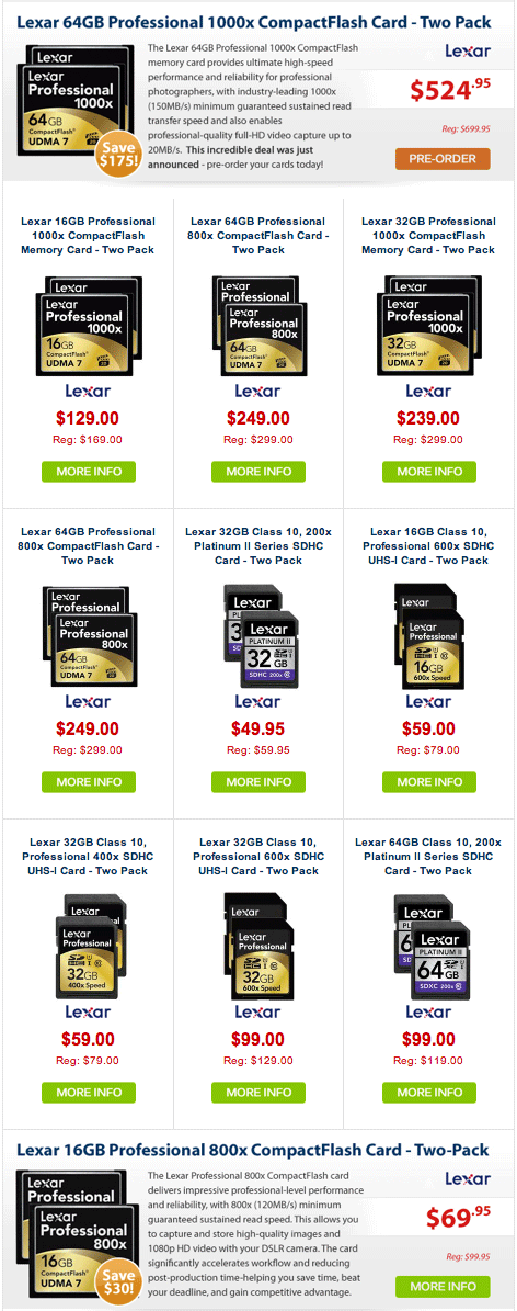 Lexar-memory-card-sale