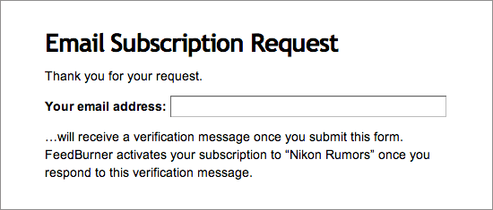 Nikon-Rumors-email-subscription