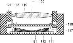 Toshiba patent for curved sensor