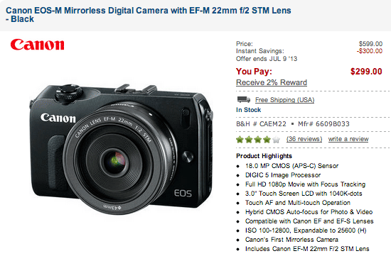Canon-EOS-M-camera-sale