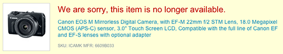 Canon-EOS-M-no-longer-available