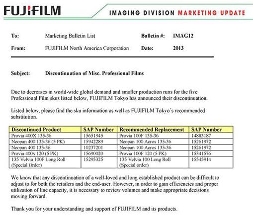 Fujifilm-Neopan-400-Provia-400X-discontinued