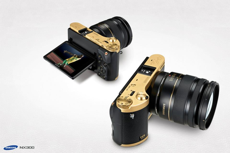Samsung gold special edition NX300 camera kit 2