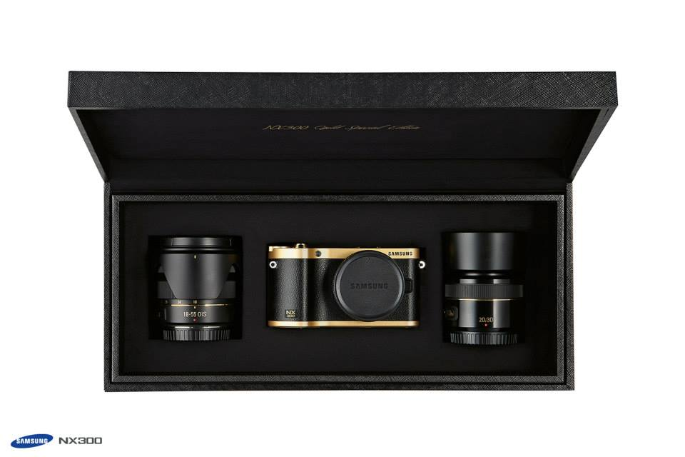 Samsung gold special edition NX300 camera kit 5